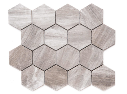 "Merola Tile Amazon Gray Hexagon on 12"" x 12"""