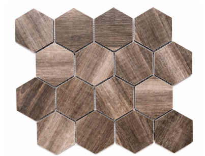 "Merola Tile Amazon Tobacco Hexagon on 12"" x 12"""