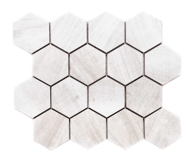 "Merola Tile Amazon White Hexagon on 12"" x 12"""