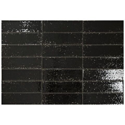 "Hudson Series Anthracite 2"" x 8"" Glazed Brick"