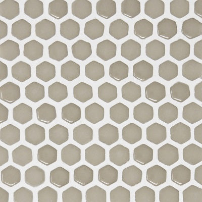 "Fusion Series Bisque Small Hexagon on 12"" x 12"""