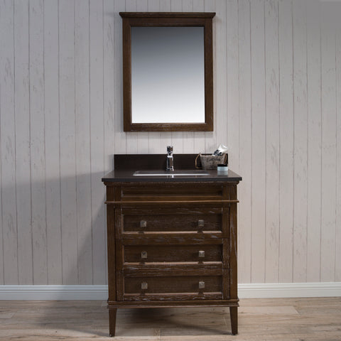 Blossom Bordeaux 30 Inch Vanity Black Red Oak V8015 30 19
