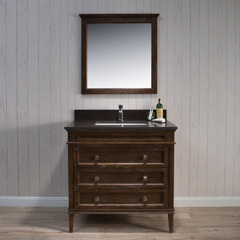 Blossom Bordeaux 36 Inch Vanity Black Red Oak V8015 36 19