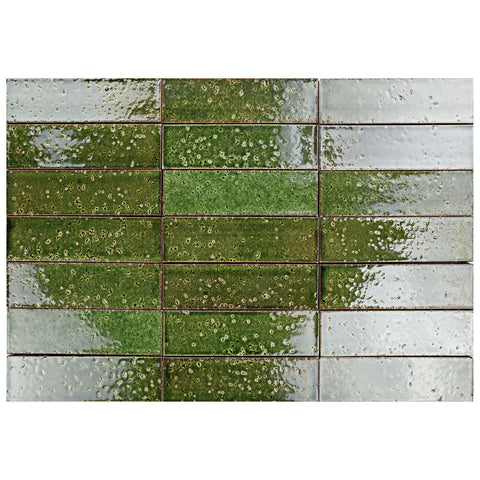 "Hudson Series Cut Lawn 2"" x 8"" Glazed Brick"