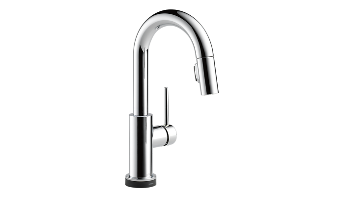 Delta Trinsic® Single Handle Pull-Down Bar / Prep Faucet with Touch2O® Technology Polished Chrome 9959T-DST