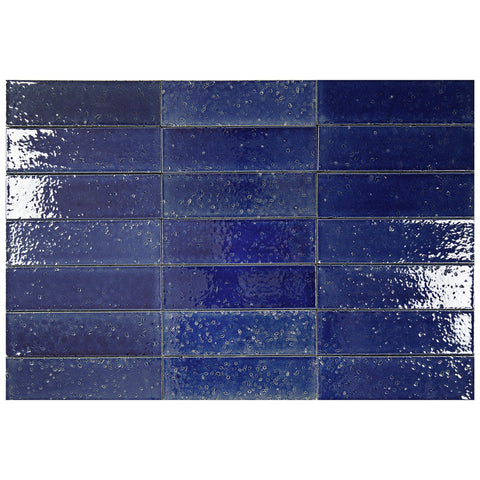 "Hudson Series Deep Water 2"" x 8"" Glazed Brick"