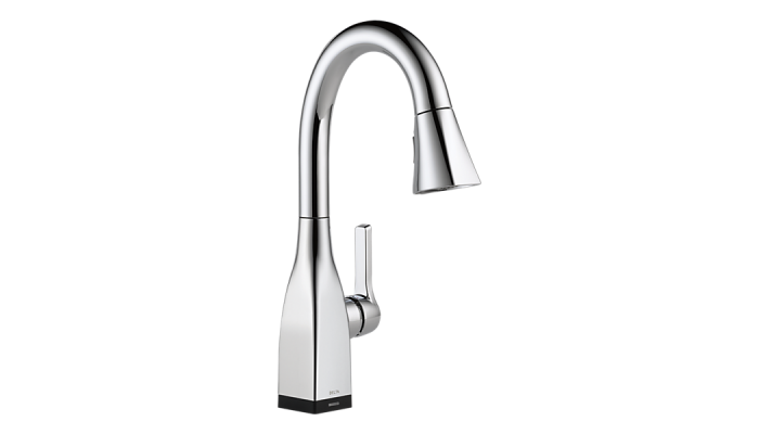 Delta Mateo® Single Handle Pull-Down Bar / Prep Faucet with Touch2O® Technology Polished Chrome 9983T-DST