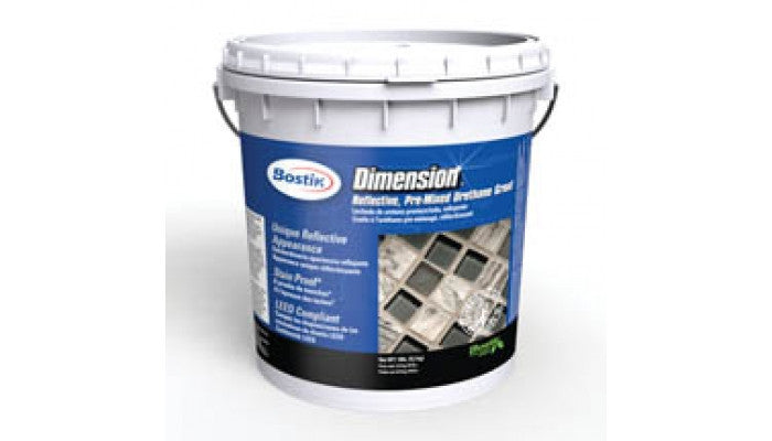 Bostik Dimension Reflective Pre-mixed Urethane Grout 9lbs H700 Silver