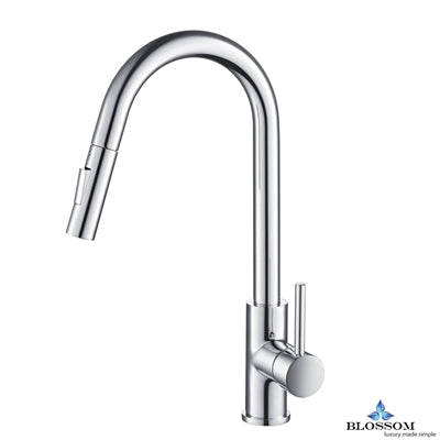 Single Handle Pull Down Kitchen Faucet - Chrome F01 206 01