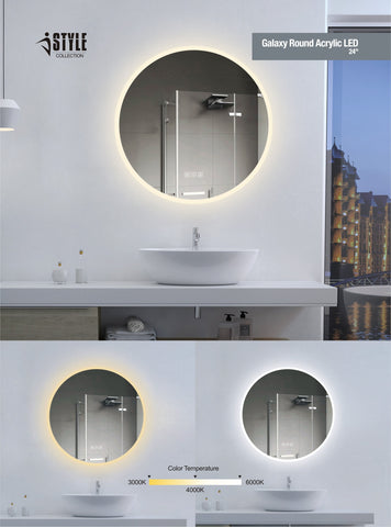 iStyle LED Mirror Galaxy Round Acrylic
