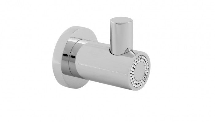 Macral Design Muse Diamond Collection Wall Hook Polished Chrome 12.005-CROM.