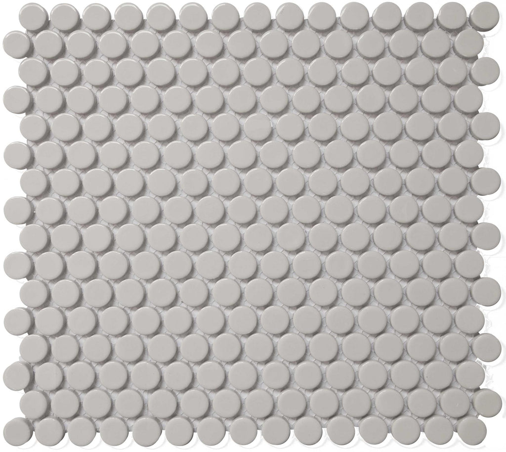 "CC Mosaic Series Gray Matte Penny Round on 12"" x 12"" UFCC116-12M"