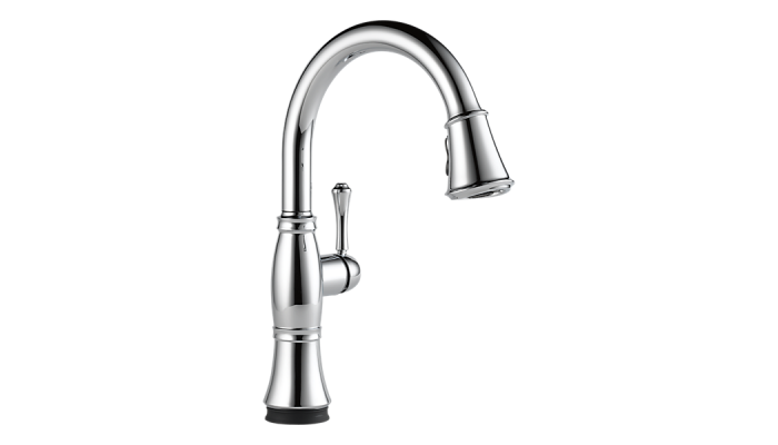 Delta Cassidy™ Single Handle Pull-Down Kitchen Faucet with Touch2O® Technology Polished Chrome 9197T-DST