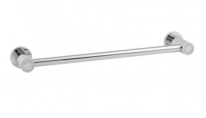 Macral Design Muse Diamond Collection Towel Bar Small 30CM Polished Chrome 12.004S-CROM.