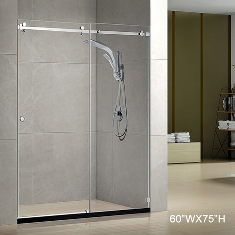 Pasgo Shower Door LY9201 Polished Chrome
