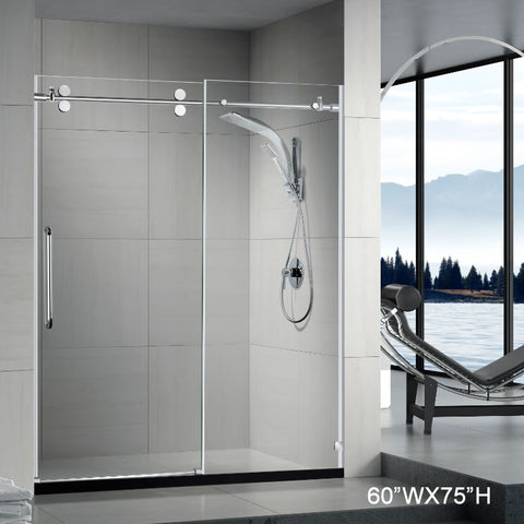 Pasgo Shower Door LY9501 Polished Chrome