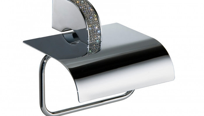 Macral Design Carmen Collection Paper Holder with Lid Polished Chrome 6604
