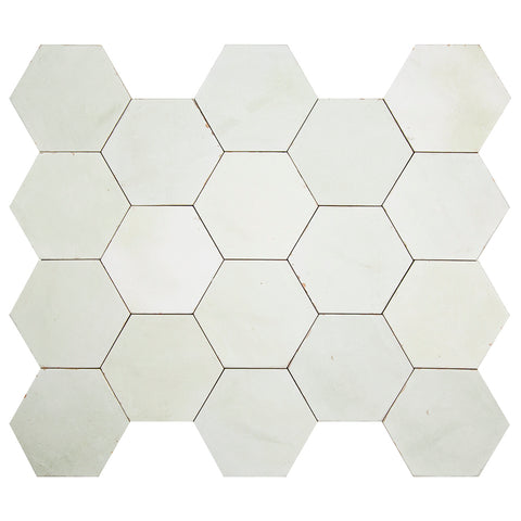"Casablanca Series Mist 5.5"" x 6.3"" Hexagon"