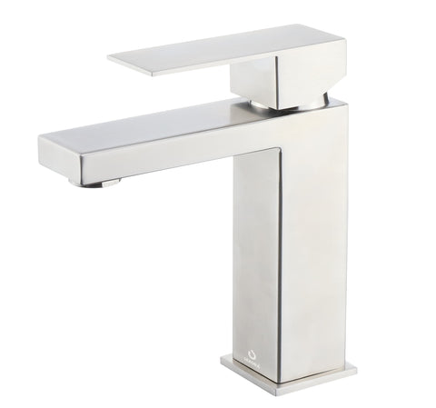 Monte Stainless Steel Single Hole Bathroom Faucet, Satin Finish LFS1012SN