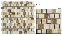 Tranquil Offset TS-929 1 x 1 Glass Mosaic Tile
