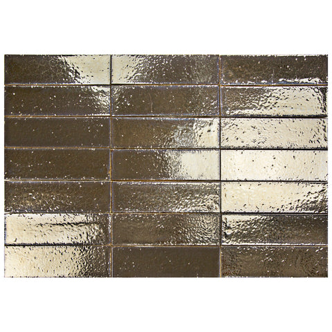 "Hudson Series Old Bronze 2"" x 8"" Glazed Brick"
