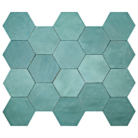 "Casablanca Series Palm 5.5"" x 6.3"" Hexagon"