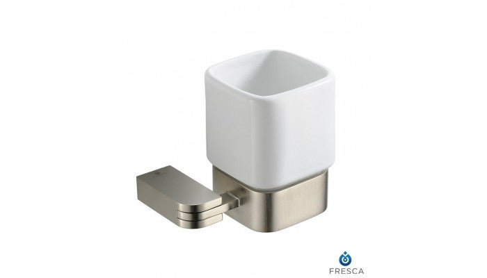 Fresca Solido Tumbler Holder in Brushed Nickel FAC1314BN