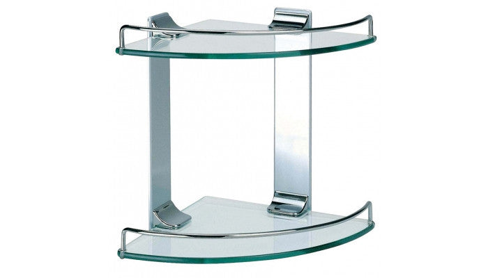 Dowell Bath Glass Shelf Double Corner 2005 001 02