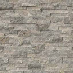 Silver Travertine 6 x 24 Splitface Ledger Panel LPNLTSIL624