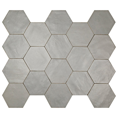"Casablanca Series Smoke 5.5"" x 6.3"" Hexagon"