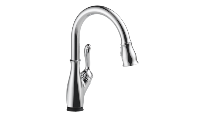 Delta Leland® Single Handle Pull-Down Kitchen Faucet with Touch2O® Technology Polished Chrome 9178T-DST