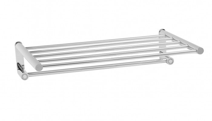 Macral Design Muse Diamond Collection Towel Holder Stand 50CM Polished Chrome 12.114-CROM.