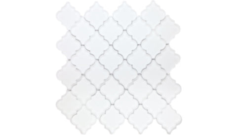 WJ-SWH-01F Frosted White Small Lantern Pattern Mosaic