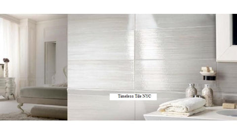 BRENNERO SPLENDIDA 8X20 WHITE WALL TILE