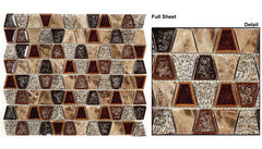 Tranquil Trapezoid TS-937 Native Tortoise Series Glass Mosaic