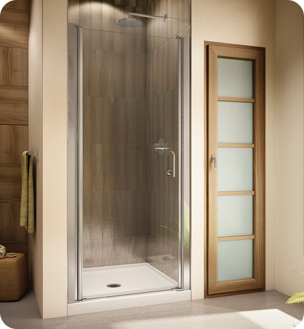 Fleurco Banyo Sevilla Semi Frameless In Line 64 Pivot Shower Door 64-E