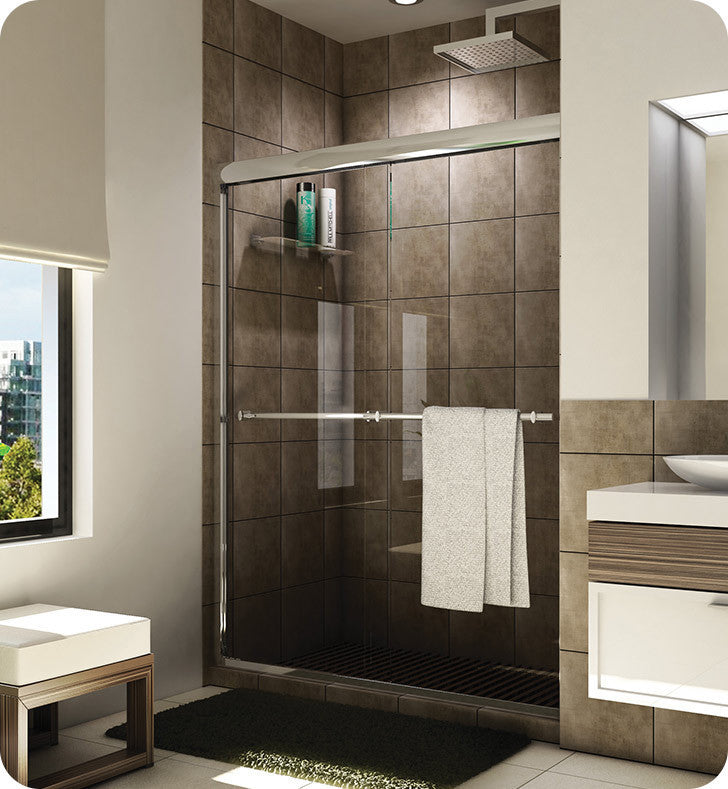 "Fleurco Banyo Verona Semi Frameless In Line 48"" Sliding Shower Doors E2-448"