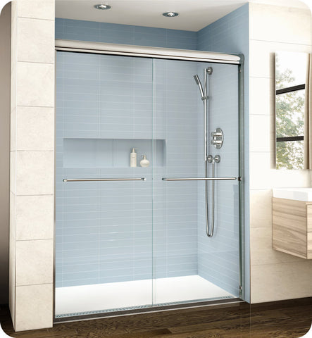 "Fleurco Banyo Cordoba Bypass Plus 60"" Semi Frameless 3/8"" Thick Sliding Shower Doors EL160"