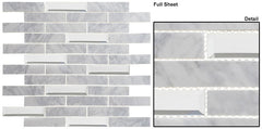 Beveled Castle Series Glass Mosaic Whitecliff Hall BCA-651