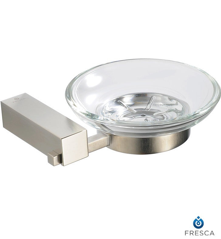 Fresca Ottimo Soap Dish in Brushed Nickel FAC0403BN
