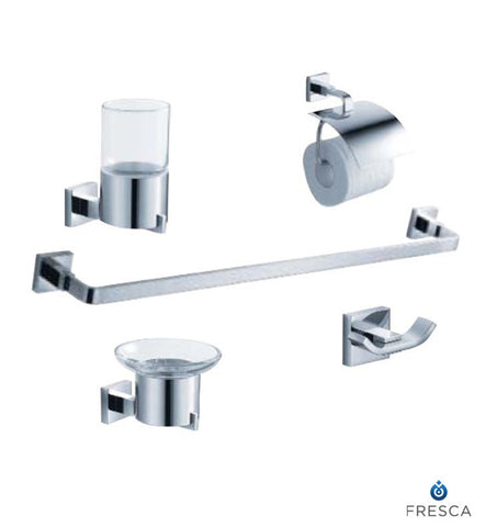 Fresca Glorioso 5 Piece Bathroom Accessory Set in Chrome FAC1100