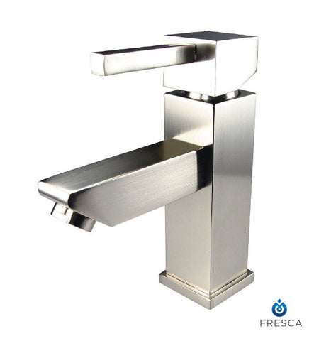 Fresca Versa Single Hole Bathroom Faucet in Brushed Nickel FFT1030BN