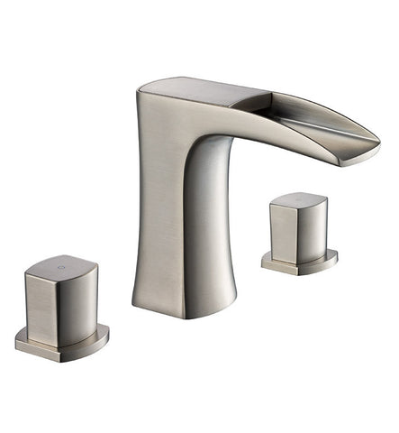 Fresca Fortore Widespread Mount Bathroom Faucet Brushed Nickel FFT3076BN