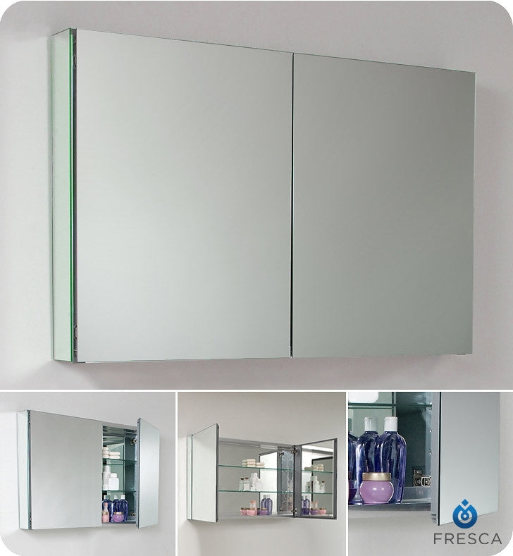 "Fresca 40"" Wide Bathroom Medicine Cabinet with Mirrors FMC8010"