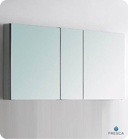 "Fresca 50"" Wide Bathroom Medicine Cabinet with Mirrors FMC8013"