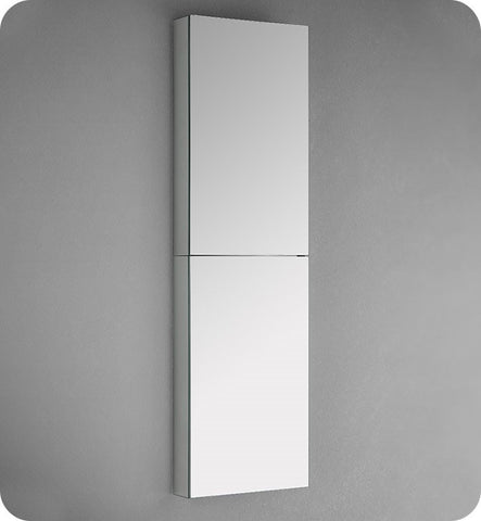 "Fresca FMC8030 15"" Wide x 52"" Tall  Bathroom Medicine Cabinet with Mirrors"