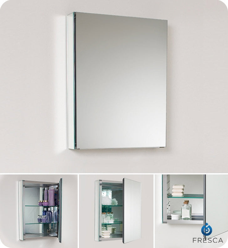 "Fresca 20"" Wide Bathroom Medicine Cabinet with Mirrors FMC8058"