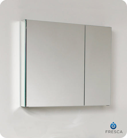 "Fresca 30"" Wide Bathroom Medicine Cabinet with Mirrors FMC8090"