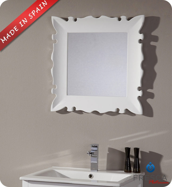 "Fresca Platinum Versalles 24"" Bathroom Mirror in White Gloss FPMR7512WH"