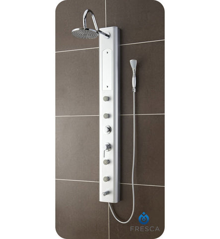 Fresca Venezia PVC Shower Massage Panel in Silver FSP8003SL